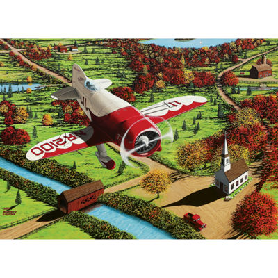 Cobble Hill Gee Bee Over New England Puzzle - 1000Pieces