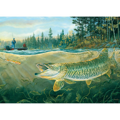 Cobble Hill Muskie Bay Fishing Puzzle - 1000 Pieces
