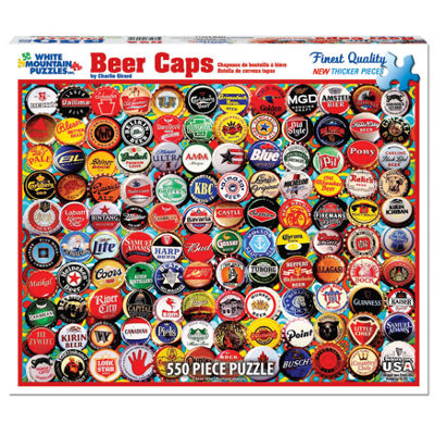White Mountain Puzzles Beer Bottle Caps - 550 Piece Jigsaw Puzzle