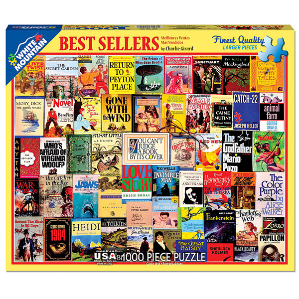 White Mountain Puzzles Best Sellers Book - 1000 Piece Jigsaw Puzzle