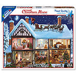 White Mountain Puzzles Christmas House - 1000 Piece Jigsaw Puzzle
