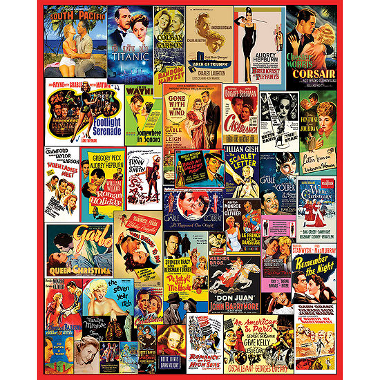 White Mountain Puzzles Classic Movie Posters - 1 000 Piece Jigsaw Puzzle