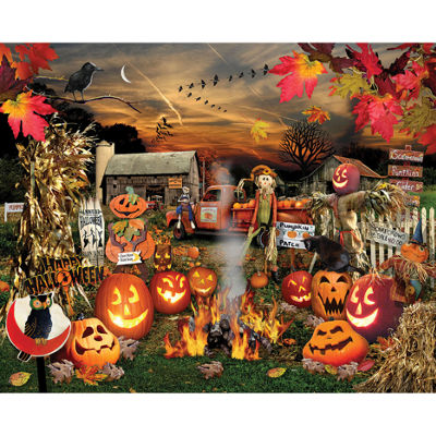 White Mountain Puzzles Jack O Lanterns - 1000 Piece Jigsaw Puzzle