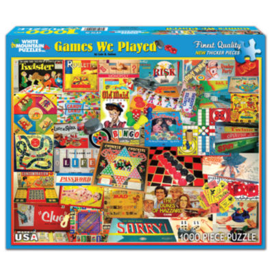 White Mountain Puzzles The Games We Played - 1000Piece Jigsaw Puzzle