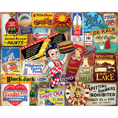 White Mountain Puzzles Vintage Signs - 1000 PieceJigsaw Puzzle