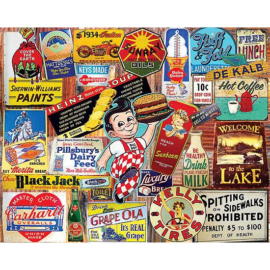 Vintage Signs - 1000 Piecejigsaw Puzzle