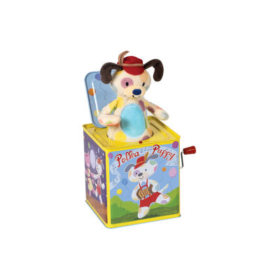 Schylling Polka Puppy Jack In Box
