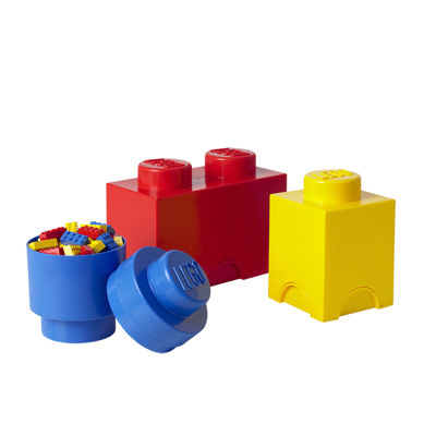 3 Piece Multi Pack Storage Brick Lego Toy Box