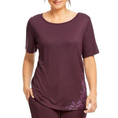 Gloria Vanderbilt Womens Knit Pajama Top