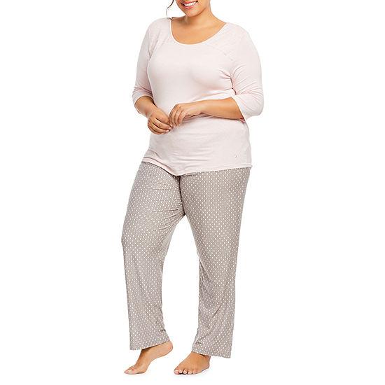 e3c728e2a6103 Gloria Vanderbilt Knit Pant Pajama Set- Womens Plus - JCPenney