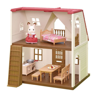 Calico Critters Dollhouse Red Roof Cozy Cottage