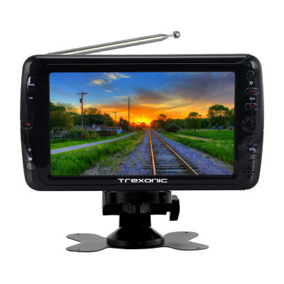 """Trexonic Portable Ultra Lightweight Rechargeable Widescreen 7"""" LED TV"""