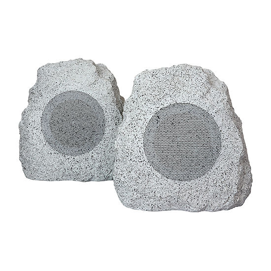 BeFree Sound Portable Bluetooth Outdoor Weather Resistant Color Changing Rock Speakers