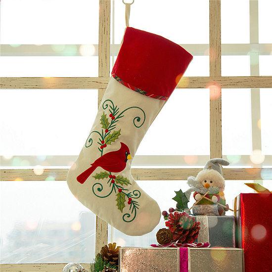 Christmas Cardinal Stocking