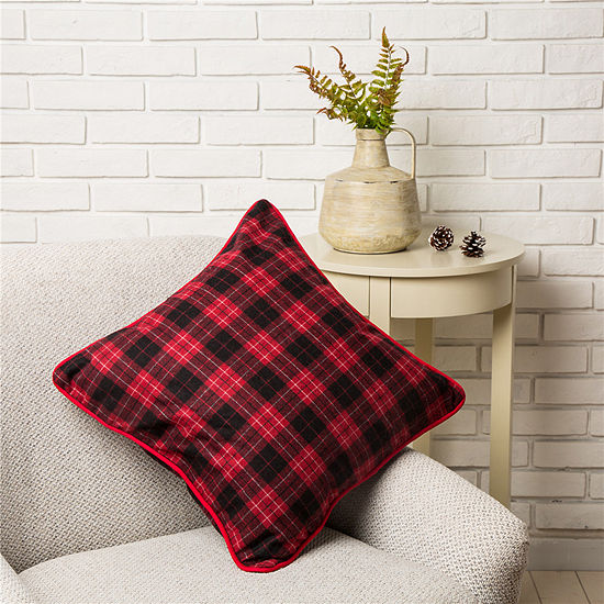 """18"""" Farmhouse Plaid Pillow Cover"""