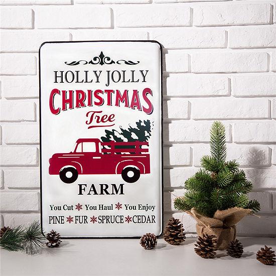"23.62"" Farmhouse Metal Enamel Truck Sign"