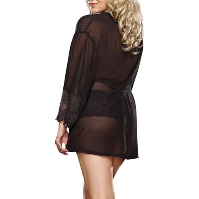 Dreamgirl Allure Robe and Lace Cheeky Panty- Plus