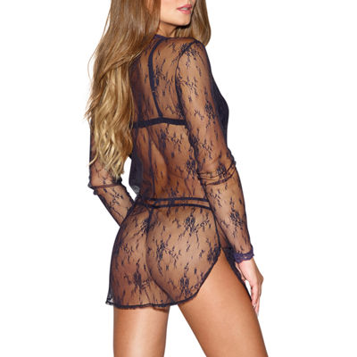 Dreamgirl Lingerie Set With Sheer Cover Up