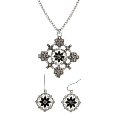 Mixit Womens Silver Tone 2-pc. Jewelry Set