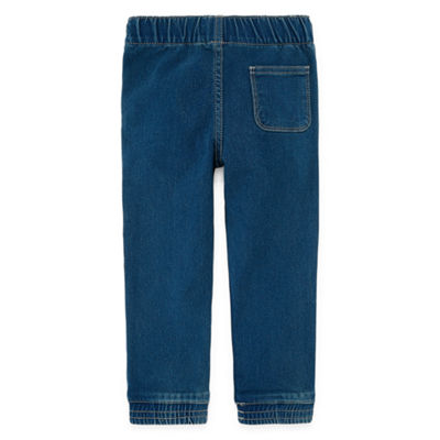 Okie Dokie Denim Jogger Pants-Toddler Boys