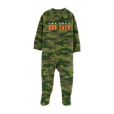 Carter's Boys Fleece Long Sleeve Round Neck One Piece Pajama