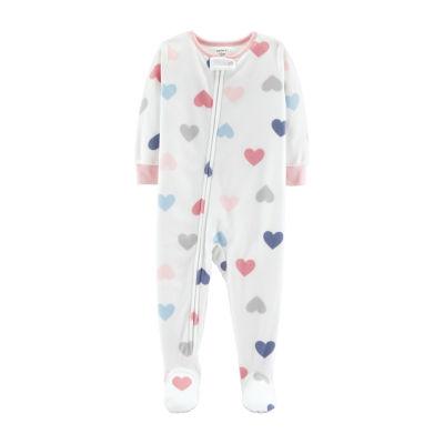 Carter's Girls Fleece Long Sleeve One Piece Pajama