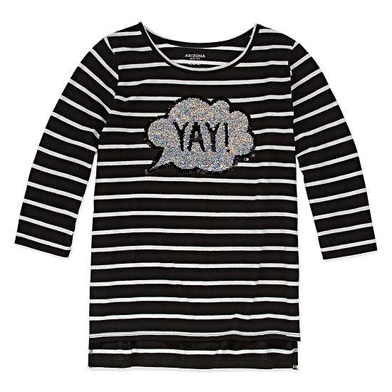 Arizona 3/4 Sleeve Graphic Tunic - Girls' 4-16 & Plus