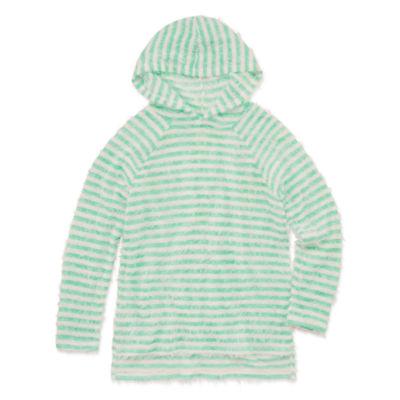 Arizona Long Sleeve Stripe Pullover Hoodie - Girls' 4-16 & Plus