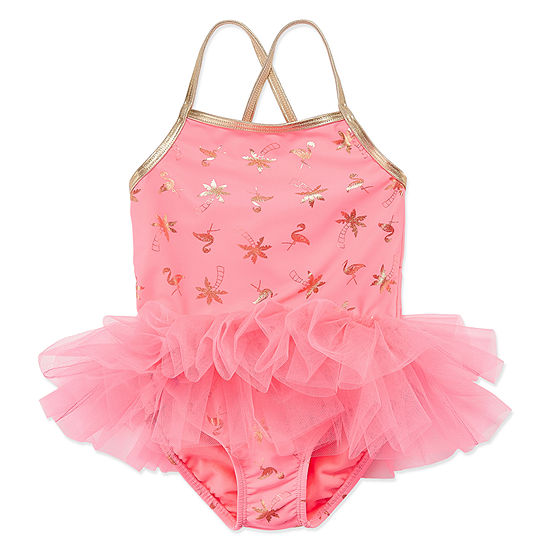afd049f6aa90d Okie Dokie Flamingo Tutu 1PC Swimsuit - Toddler Girls - JCPenney
