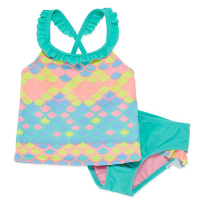Okie Dokie Mermaid Splash Tankini - Toddler Girls