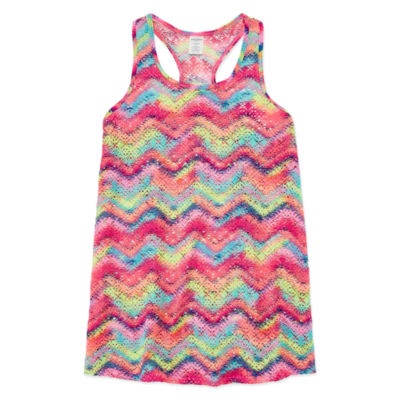 Arizona Chevron Multi Color Cover Up Girls 4-16 & Plus
