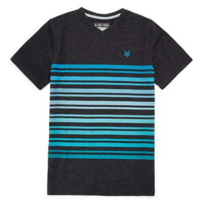 Zoo York Boys V Neck Short Sleeve T-Shirt-Big Kid
