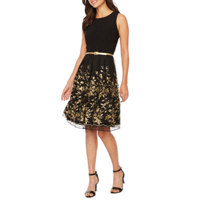 R & K Originals Sleeveless Embroidered Party Dress