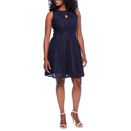 Danny Nicole Sleeveless Floral Fit Flare Dress Petite