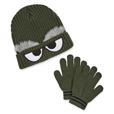 Monster Beanie with Gloves Set-Boys