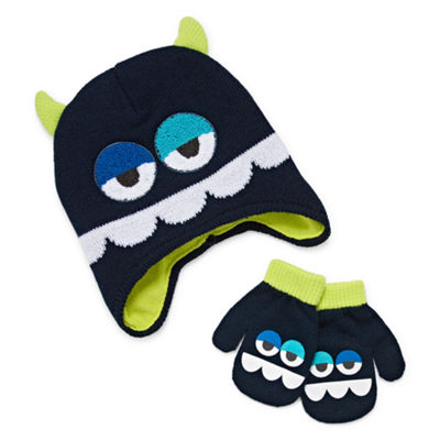 Monster Hat and Mittens Set-Toddler Boys