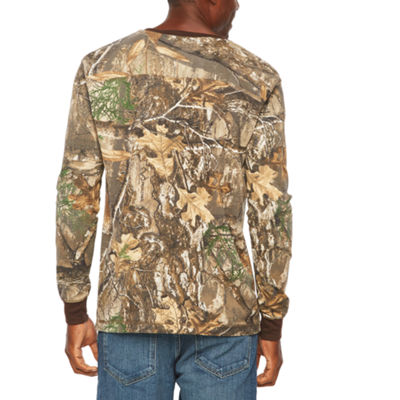 Realtree Mens Henley Neck Long Sleeve Thermal Top