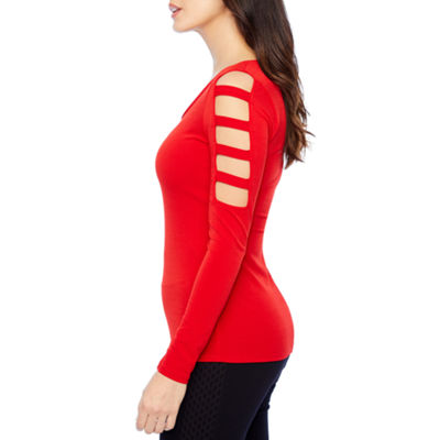 Bold Elements Long Sleeve Boat Neck T-Shirt