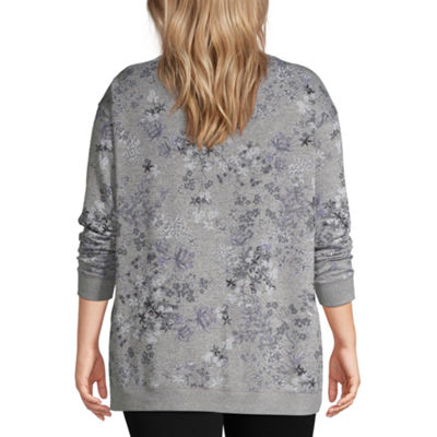 Liz Claiborne Weekend Crewneck Sweatshirt - Plus