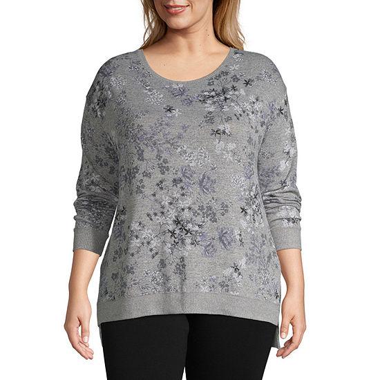 Liz Claiborne Weekend Crewneck Sweatshirt - Plus