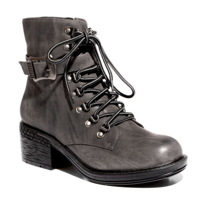 2 Lips Too Womens Rational Combat Boots Zip