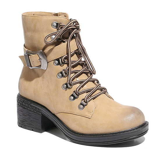 2 Lips Too Womens Rational Combat Boots