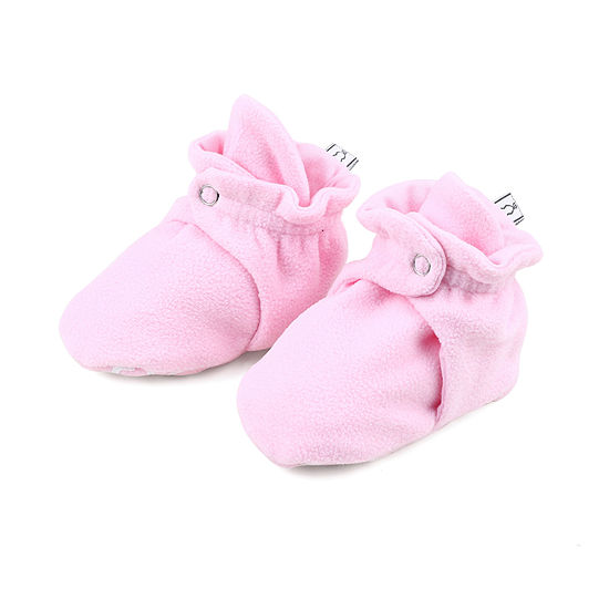 The Peanut Shell Girls Fleece Booties Crib Shoes