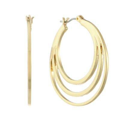 Gloria Vanderbilt 34.8mm Hoop Earrings