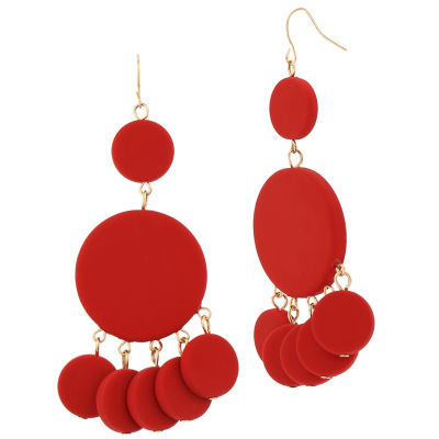 Bijoux Bar Brass Drop Earrings