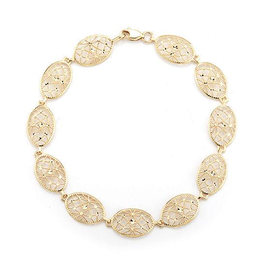 10K Gold 7.5 Inch Solid Casted Link Bracelet