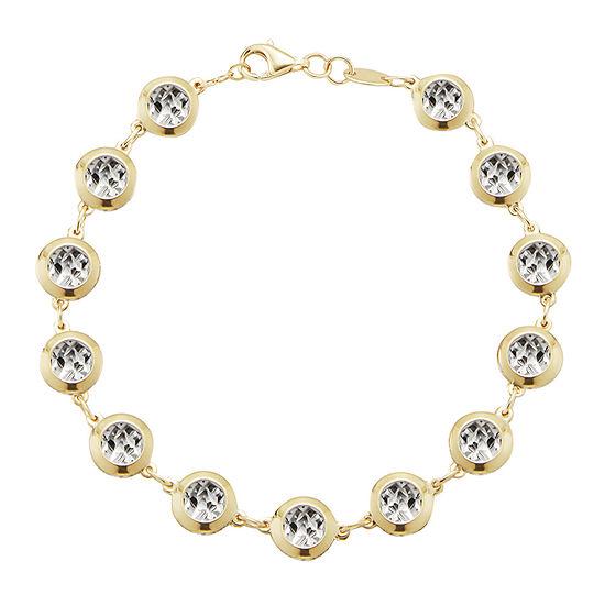 10k Gold 75 Inch Solid Casted Link Bracelet