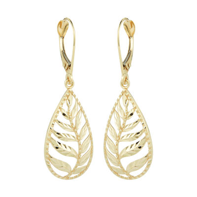 10K Gold Pear Drop Earrings