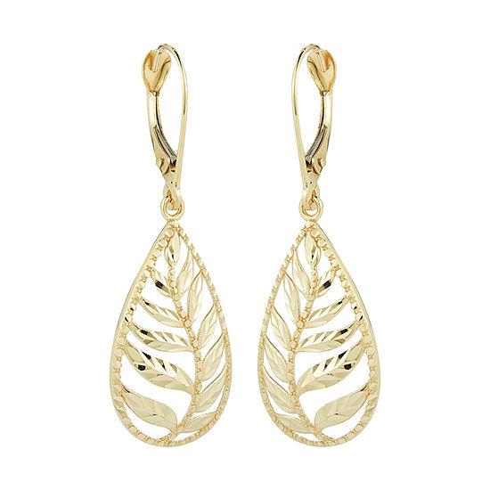 10K Gold Pear Drop Earrings