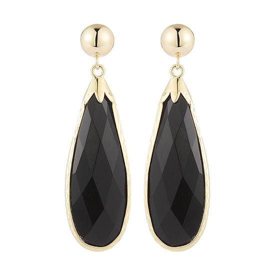 Genuine 10K Gold Drop Earrings